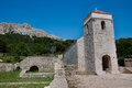 St Lucia church  and ancient ruins at Jurandvor - Baska - krk - Royalty Free Stock Photos