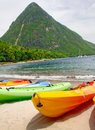 St. Lucia - Kayaking the Pitons Royalty Free Stock Photo