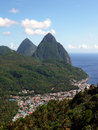 St. Lucia Pitons and Soufriere Royalty Free Stock Image
