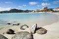 St maarten philipsburg great bay beach in Royalty Free Stock Photos