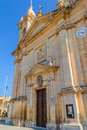 St margaret church facade in the island of gozo malta Stock Image