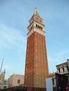 St mark s campanile at dusk venice italy Stock Image