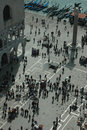 St Mark's Square and Doge's Palace from above Royalty Free Stock Images