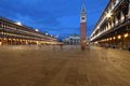 St Mark's Square (Piazza San Marco) at night in Venice, Italy Royalty Free Stock Photo