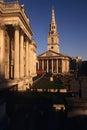 St Martin-in-de-Gebieden & het National Gallery Stock Fotografie