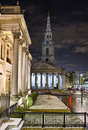 St Martin in the Fields from National Gallery