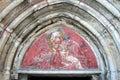 St Mary e la pittura Child- santa dell'affresco Immagini Stock Libere da Diritti