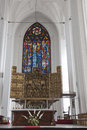 St mary gdansk altar in poland Royalty Free Stock Photography