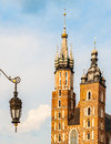 St mary s basilica in historical city of krakow poland Stock Images