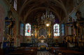 St mary s church in krakow interior of Stock Image