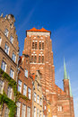 St mary s church old town gdansk poland Royalty Free Stock Photos