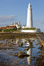 St. Mary's Lighthouse Stock Images