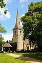 St marys church lower slaughter and entrance arch cotswolds gloucestershire england uk western europe Royalty Free Stock Image