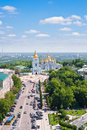 St michael's golden domed monastery kiev ukraine Royalty Free Stock Photo