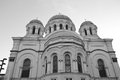 St michael the archangel church in kaunas lithuania black and white Royalty Free Stock Images