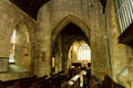 St michael church choir and chancel england withington october Stock Images