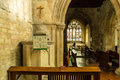 St michael church pulpit and chancel england withington october Stock Photo