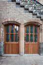 St michael doors gent two under the bridge of Royalty Free Stock Images