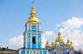 St michael s bell tower in kiev ukraine view of Royalty Free Stock Image