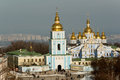 St michael s golden domed monastery in winter kiev Royalty Free Stock Image