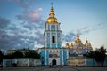 St michael s monastery kiev in at sunset Stock Photo