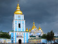 St michael s monastery kiev ukraine golden domed in Stock Photo
