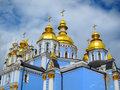 St michael s monastery kiev ukraine golden domed in Royalty Free Stock Image