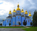 St michael s monastery kiev ukraine golden domed in Royalty Free Stock Images