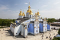 St michael s monastery in kiev ukraine golden domed one of the oldest monasteries cathedral was the first temple with gold plated Royalty Free Stock Photo