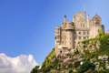 St michael s mount cornwall england cornish karrek loos y n koos is a tidal island located m yd off the bay coast of united Royalty Free Stock Images