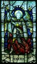 St Michael stained glass window Stock Images