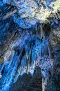 St. Michaels Cave geological shapes Gibraltar Royalty Free Stock Photo
