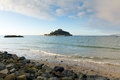 St michaels mount medieval castle on island cornwall england marazion and church an in mounts bay Royalty Free Stock Images