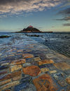 St michaels mount michael s marazion cornwall england at dusk Royalty Free Stock Images