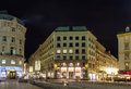 St michaels square vienna in the evening before christmas Stock Photography