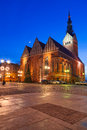 St nicholas cathedral in elblag old town of poland Royalty Free Stock Photos
