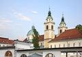 St Nicholas Cathedral in Ljubljana. Slovenija Royalty Free Stock Photo