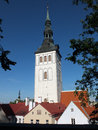 St nicholas church is a former medieval in tallinn estonia originally built in the th century it was partially destroyed by Royalty Free Stock Images