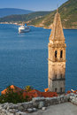 St nicholas church in perast town kotor bay adriatic sea montenegro Stock Photos