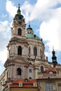 St nicholas church prague czech republic europe tower of Stock Photography