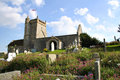 St nicholas church uphill somerset the norman old of at england dates from around it stands on a cliff top overlooking boat Royalty Free Stock Photo