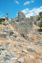 St. Nicholas Island ruins, Fethiye, Turkey Royalty Free Stock Photography