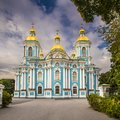 St nicholas naval cathedral in petersburg russia Stock Photo