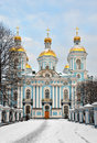 St nicholas naval cathedral in petersburg russia Stock Photography