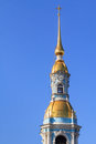St nicholas naval cathedral tower the top of the bell of in petersburg russia Royalty Free Stock Images