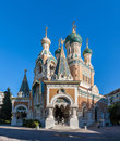 St Nicholas Russian Orthodox Cathedral in Nice Royalty Free Stock Photo