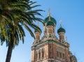 St nicholas russian orthodox cathedral nice frankrike Royaltyfri Fotografi