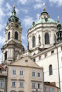 St Nicholas (St. Mikulas) church in Prague Stock Images