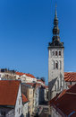 St olaf church in the old center of tallinn estonia Stock Photo