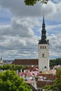 St olaf s church tallinn estonia august have been built in the th century and to have been the centre for old Stock Photography